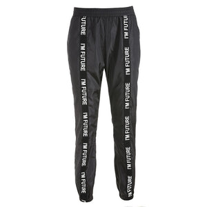 Harem Pants Trousers Women Full Length Loose Jogger Mujer Sporting Elastic Waist Black Casual Combat Streetwear Fashion