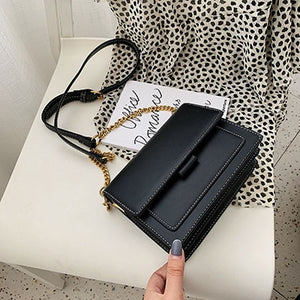Mini Leather Crossbody Bags For Women  Green Chain Shoulder Messenger Bag Lady Travel Purses and Handbags  Cross Body Bag