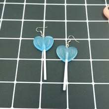 Load image into Gallery viewer, Cute Heart Lollipop Earrings earring candy costume trendy Style woman girl Jewelry Drop shipping
