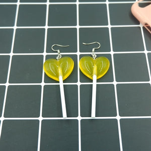 Cute Heart Lollipop Earrings earring candy costume trendy Style woman girl Jewelry Drop shipping