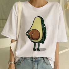 Load image into Gallery viewer, New Avocado Shirt Vegan T Shirt Women Harajuku Kawaii Short Sleeve T-shirt Vogue 90s Korean Style Tshirt Fashion Top Tees Female