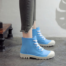 Load image into Gallery viewer, Woman Rain Boots Ankle Boot For Woman Waterproof Solid Color Shoes  Spring Autumn Rain Boots Non-Slip Female Casual Shoes