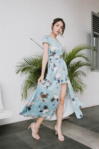 Kath Floral Maxi Dress (Tiffany)