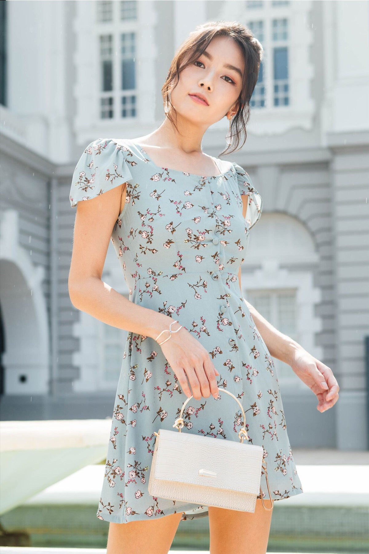 Nauvelle Floral Dress (Jade)