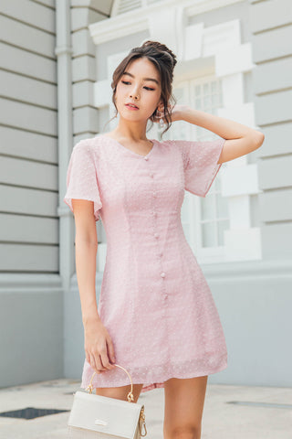 Allison Textured Dress (Dusty Pink)