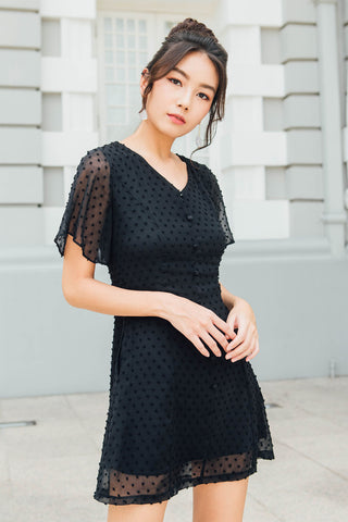 Allison Textured Dress (Black)