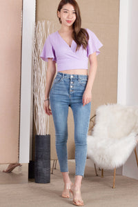 Aimee Textured Top (Lilac)