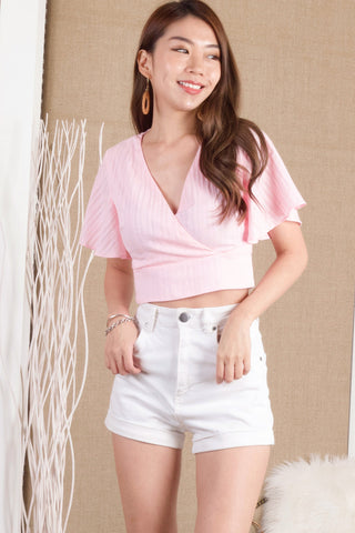 Aimee Textured Top (Pink)