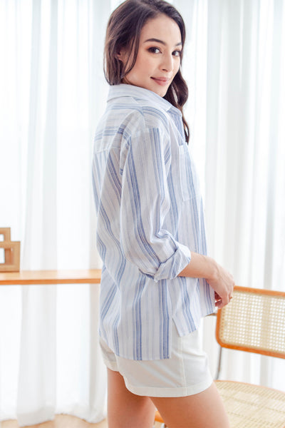 Arden Striped Shirt (Blue)