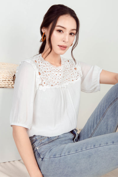 Aurei Crochet Top (White) - L/XL
