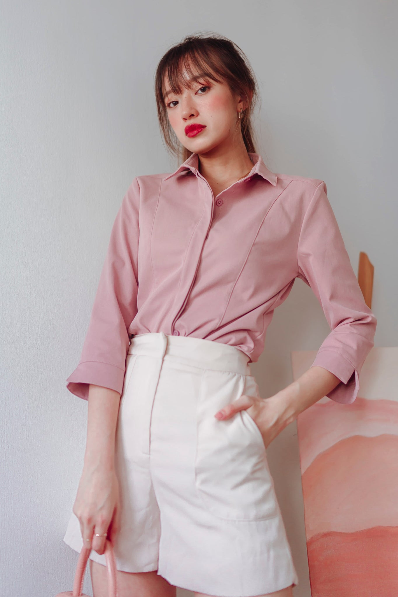 Baeley Go-getter Shirt (Dusty Pink) - L