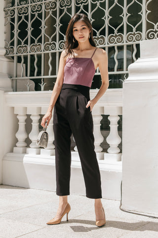 Cara Colourblock Jumpsuit (Black)