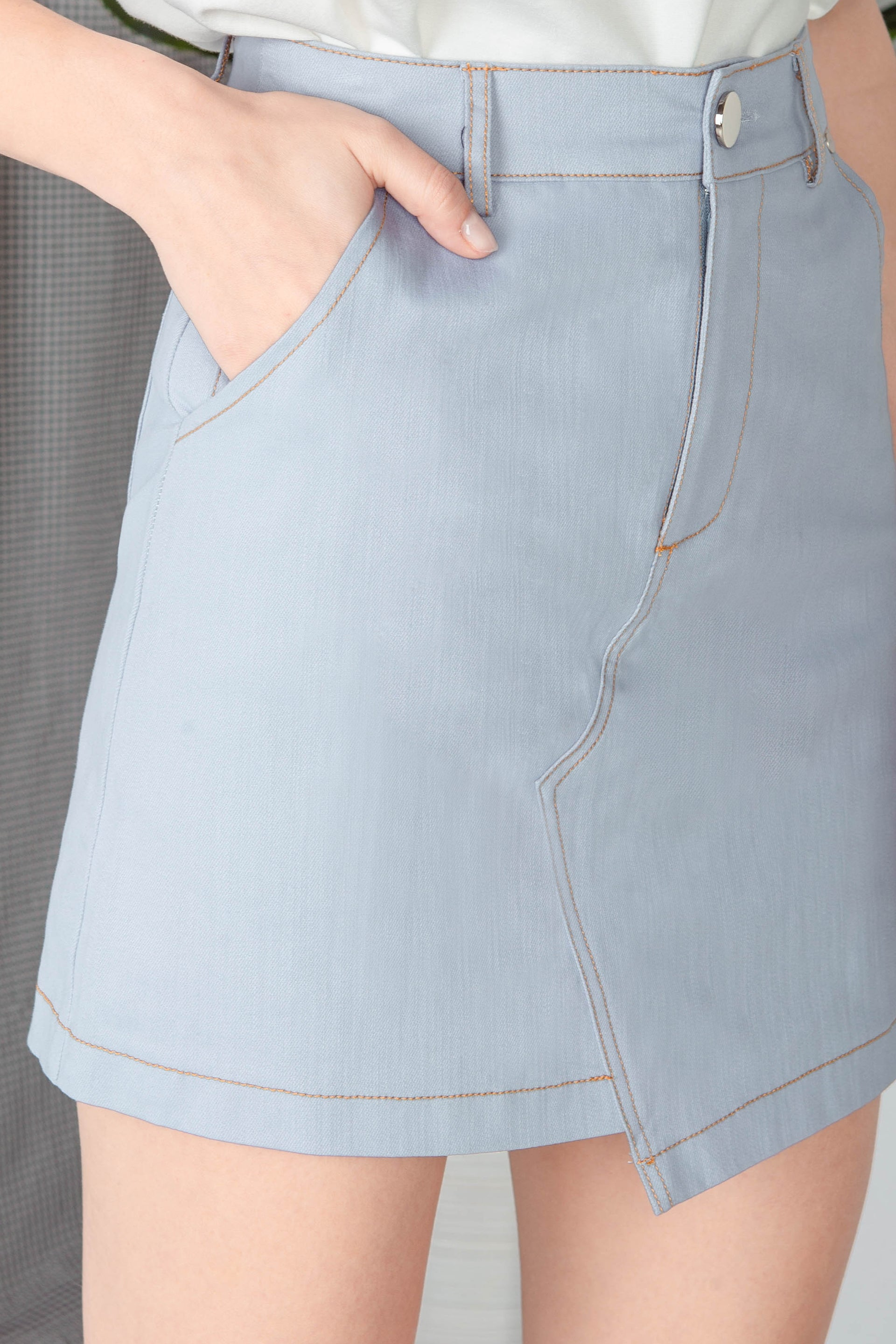 Backorder* Charleigh Denim Skirt (Blue)
