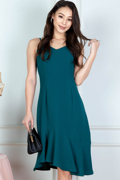 Cora Swing Midi Dress (Teal)