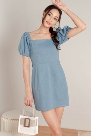 Deidra Denim Dress (Light Blue)