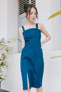 Demi Denim Midi Dress (Dark)