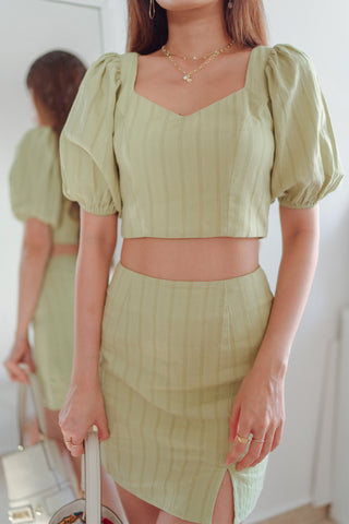 Edith Co-ord Skorts (Apple Green)