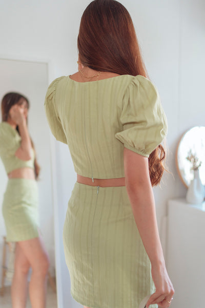 Edith Co-ord Top (Apple Green) - L