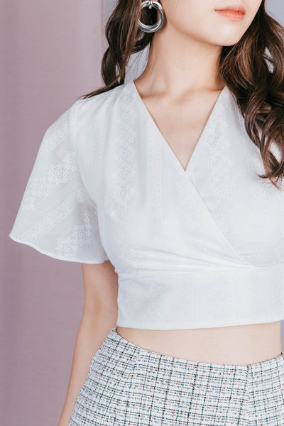 Erica Embossed Top (White)