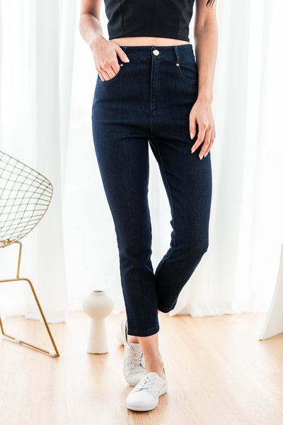 Joni High-rise Jeans (Dark Blue)