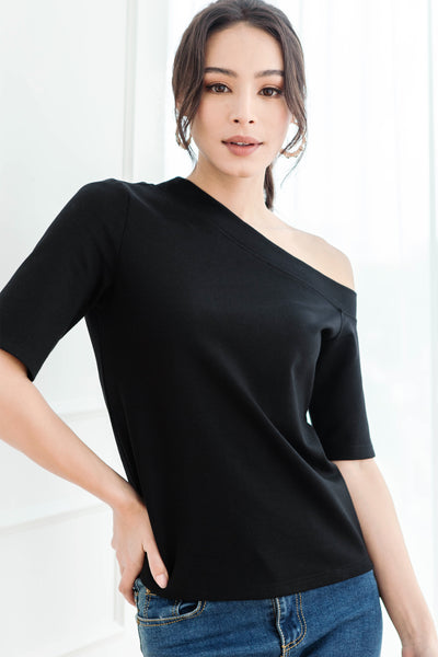 Backorder 2* Judith One-shoulder Top (Black)