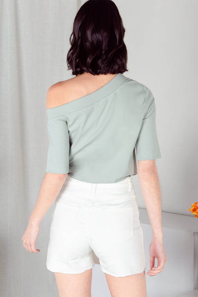 Judith One Shoulder Top (Seafoam) - M
