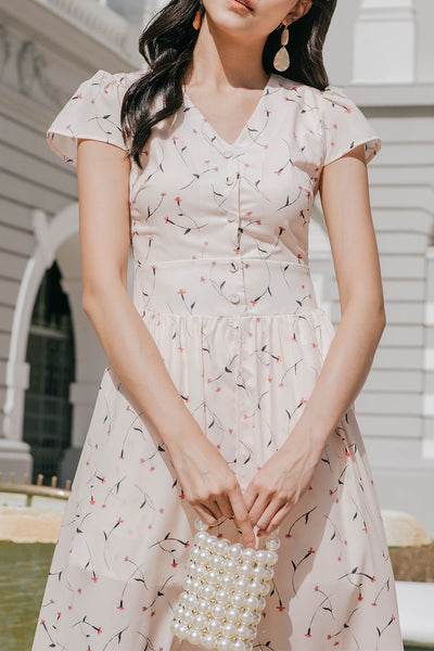 Kathlyn Floral Maxi Dress (Pale Pink)