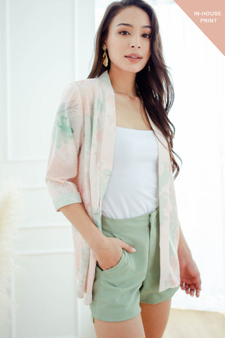 Keira Belted Outerwear (Pastel) - M