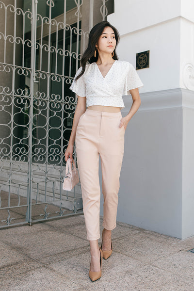 Lucille Cuffed Pants (Peach)