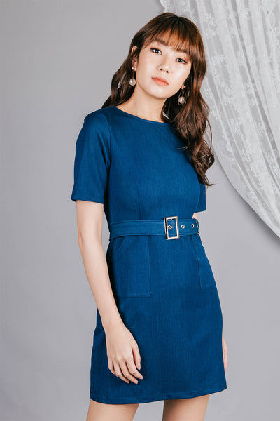 Marlene Denim Dress (Blue)