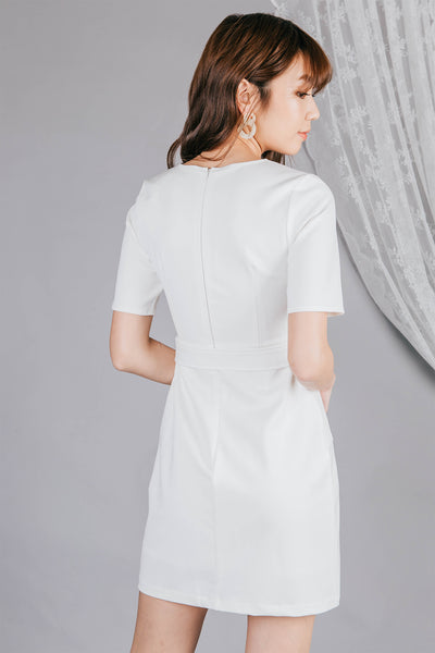 Marlene Denim Dress (White)