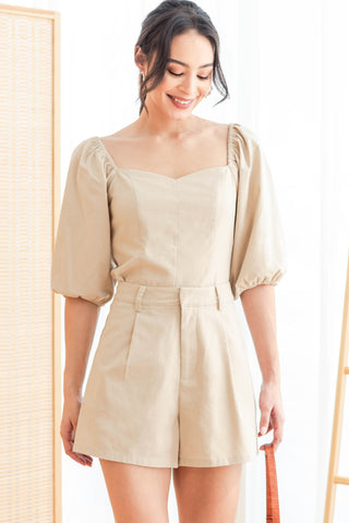 Maurice Sweetheart Top (Beige)
