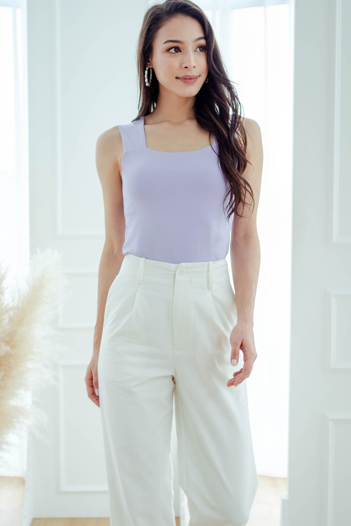 Meygan Fitted Tank Top (Lilac)