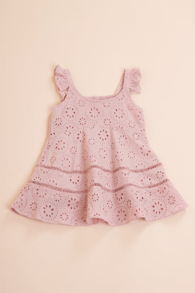 Mini Mallory Dress (Dusty Pink)