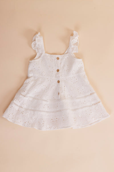 Mini Mallory Dress (White)