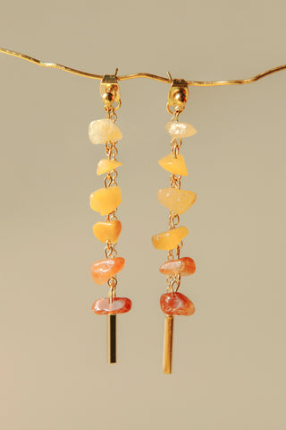 Ombre Drops Earrings (Citrine Yellow)