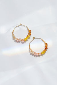 Ombre Wisteria Hoops (Dawn)