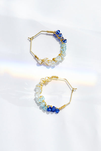 Ombre Wisteria Hoops (Twilight)