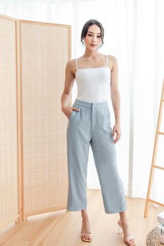 Rae Refined Pants (Steel Blue)