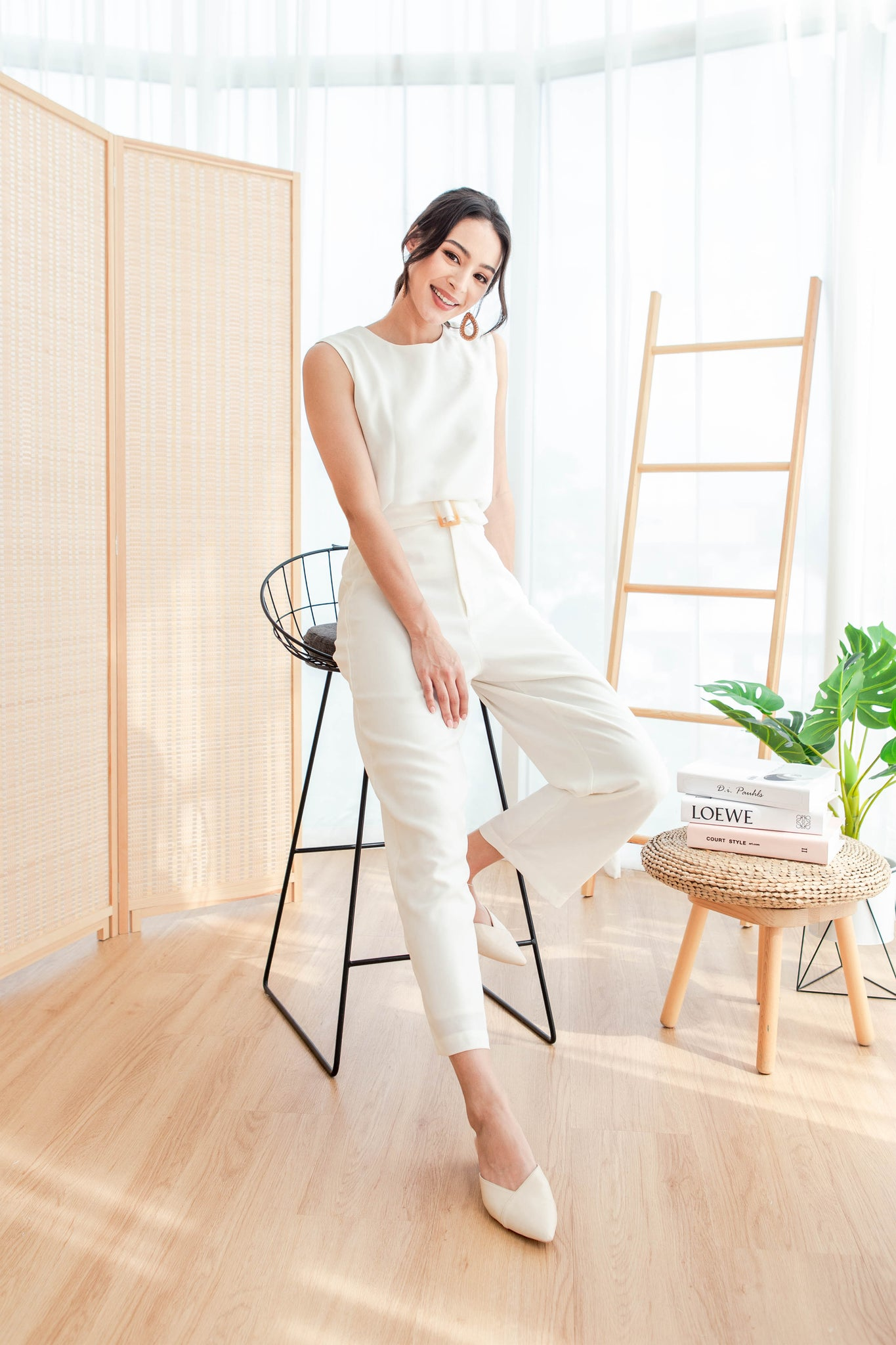 Rae Refined Pants (White)