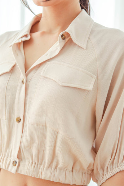 Reina Off-duty Top (Beige)