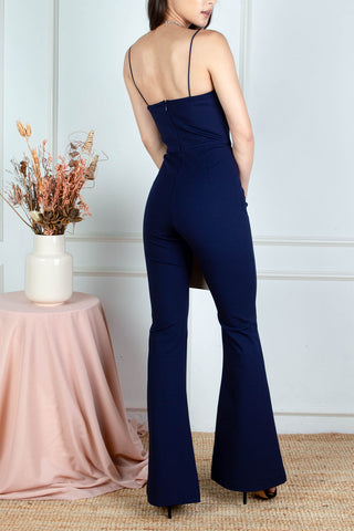 Renee Structured Jumpsuit (Navy)