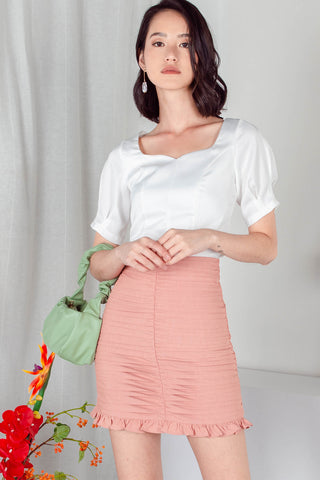 Backorder* Rochelle Pleated Skirt (Rose Pink)