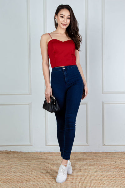 Roxie Bustier Top (Crimson)
