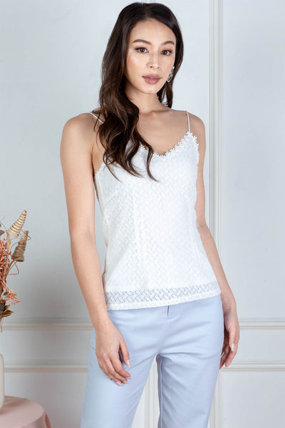 Sherrie Crochet Top (White)