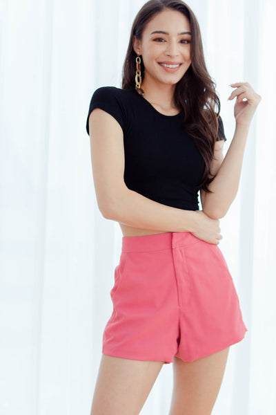 Siena Knit Cropped Top (Black)