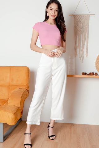 Siena Knit Cropped Top (Bubblegum)