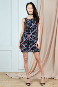 Sola Printed Dress (Black)