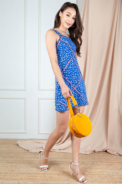 Sola Printed Dress (Blue)