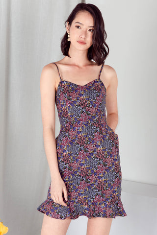 Solace Paisley Dress (Blue)